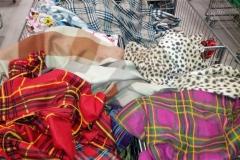Abbigliamento pile scampoli quadri