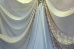Abbigliamento raso cady pizzo sposa